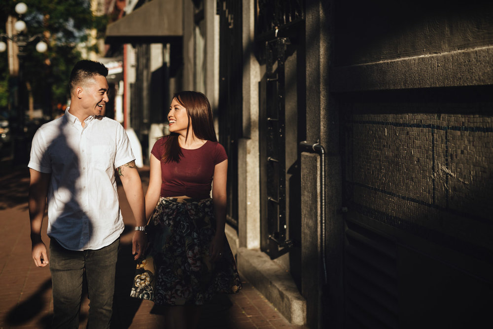 gastown portrait engagement photography in vancouver bc