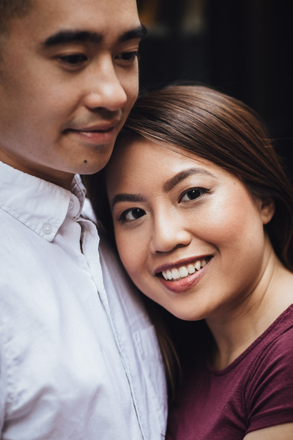 engagement portraits in gastown vancouver bc