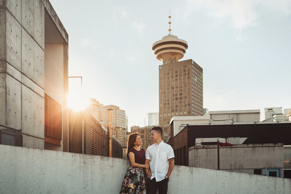 vancouver engagement photography in gastown