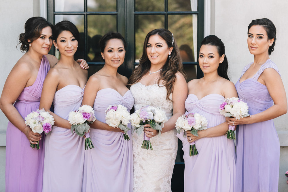 vancouver wedding photography bridesmaids at hycroft unversity women's club