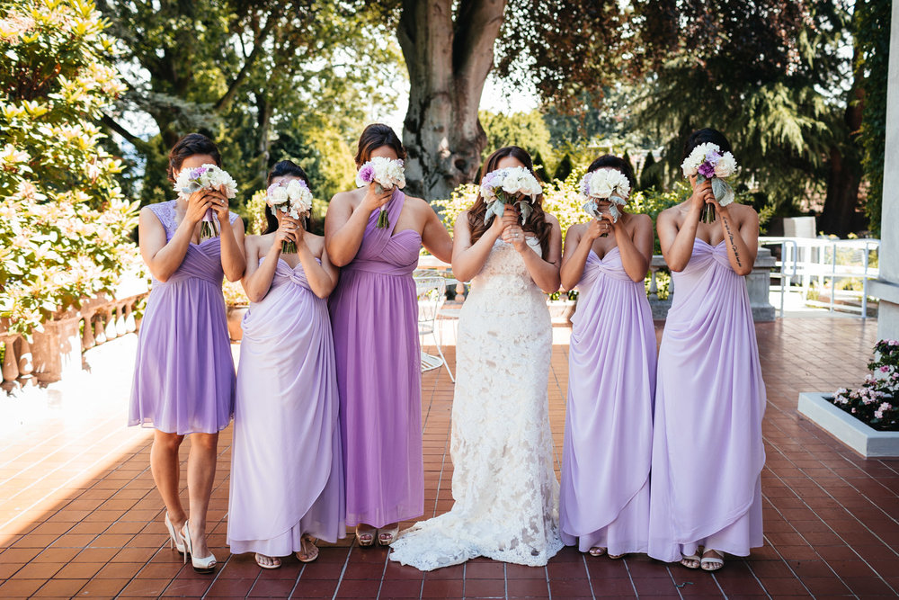 vancouver wedding bridesmaids at hycroft fun and candid