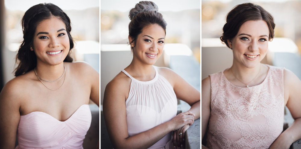 bridesmaids vancouver wedding photography at holiday inn on west broadway