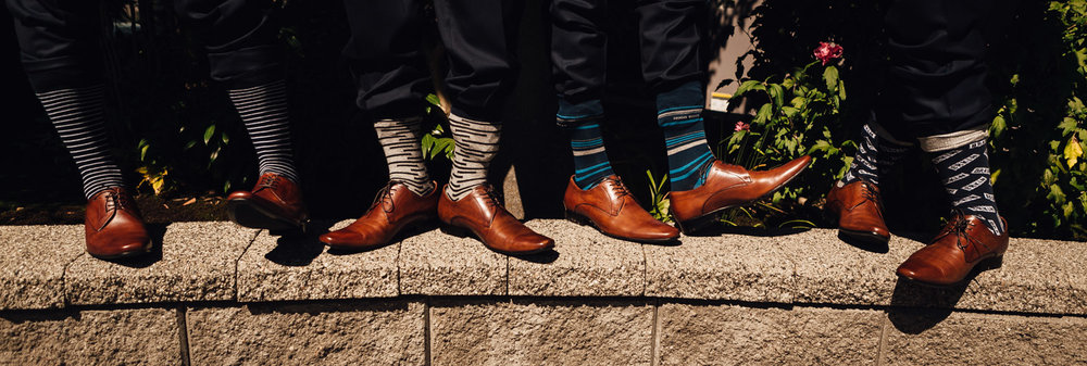 groom socks funky colours vancouver wedding photography