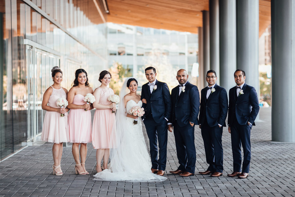 wedding party in coal harbour convention centre vancouver bc