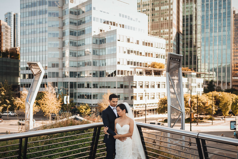 cactus club rooftop vancouver coal harbour wedding photography