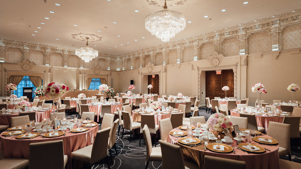 rosewood hotel ballroom wedding reception vancouver bc
