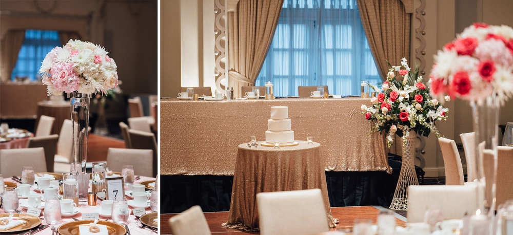 rosewood hotel georgia ballroom wedding decor vancouver bc photography