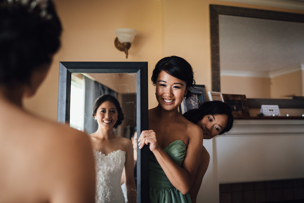 vancouver wedding photography bride's reflection in mirror