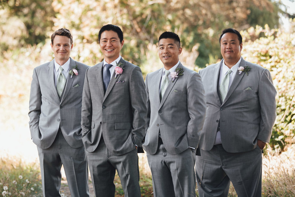groom and groomsmen at terra nova wedding richmond photography bc