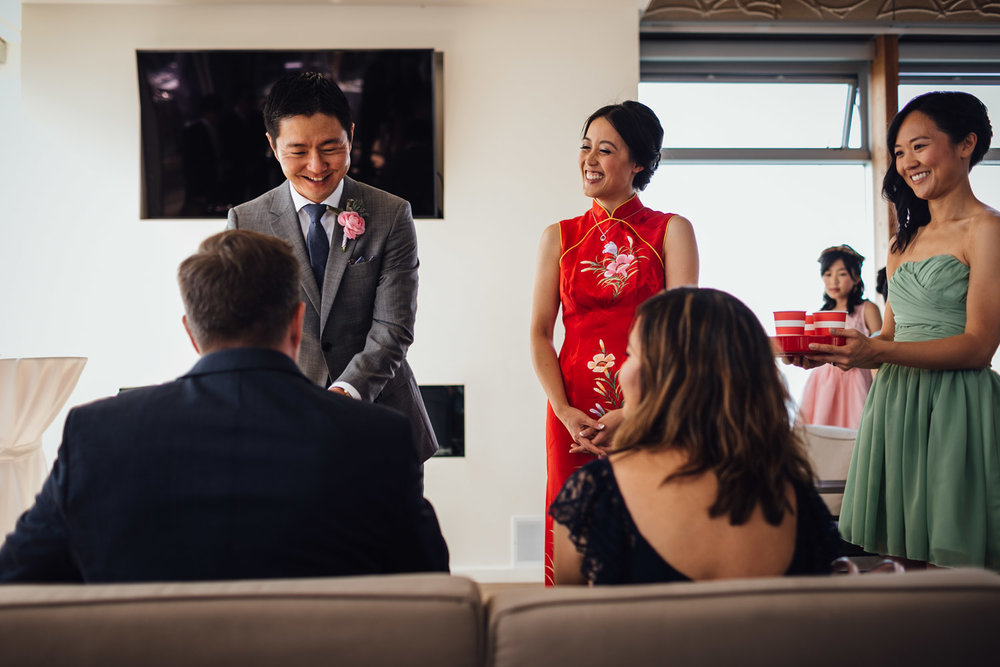 ubc boathouse wedding chinese tea ceremony photography