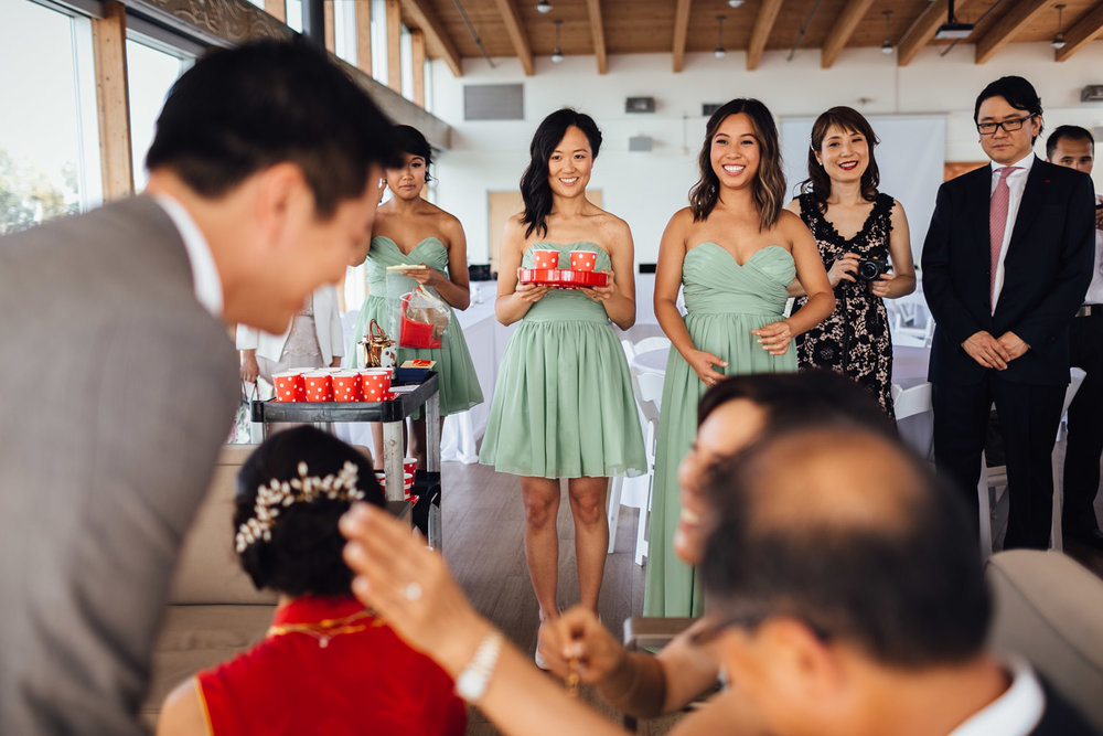ubc boathouse wedding chinese tea ceremony in richmond bc