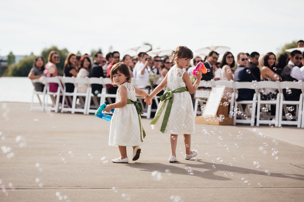 flower girls ubc boathouse water guns richmond bc wedding photography