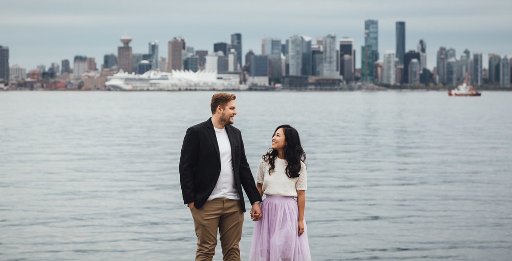 north vancouver engagement photography at waterfront park