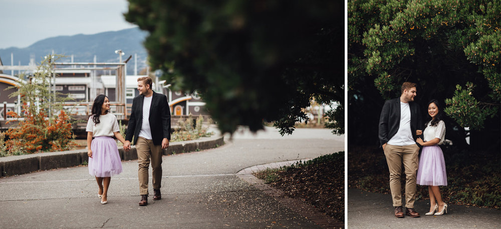 waterfront park engagement photography in north vancouver