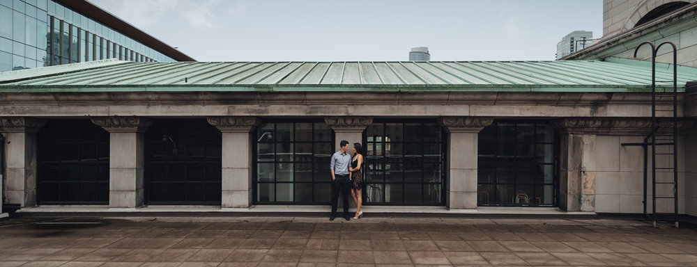 vancouver downtown art gallery engagement photographer autumn fall