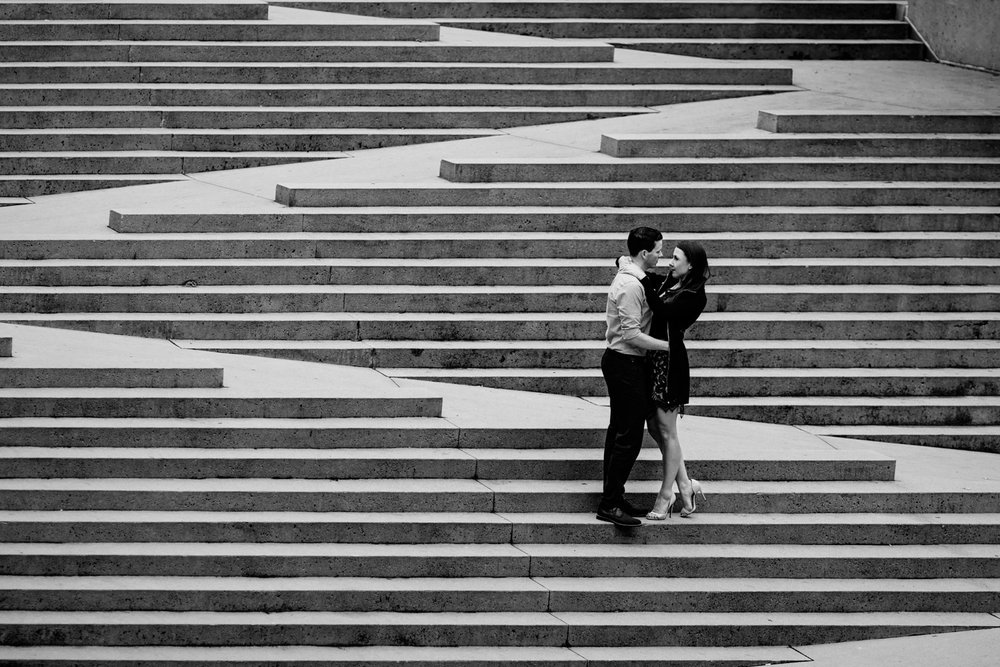 vancouver engagement photography at robson square downtown autumn fall season