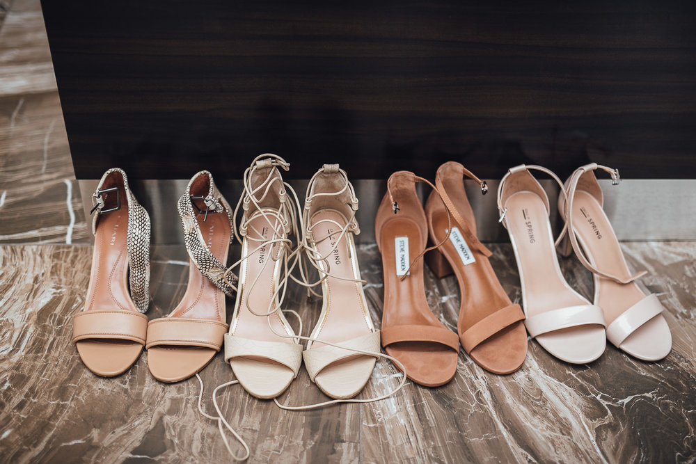 bridesmaids shoes burnaby wedding photography
