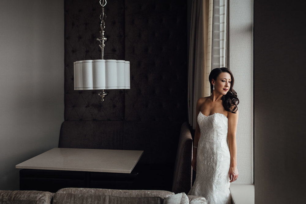 burnaby wedding photography bride portrait by window
