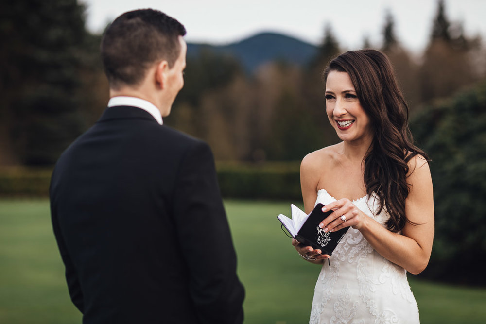 wedding vows private swaneset pitt meadows photography