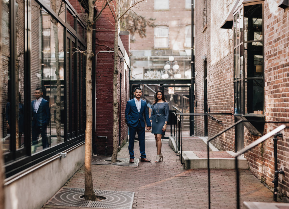 gastown engagement session photography vancouver bc