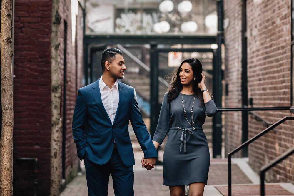 gastown candid engagement photography vancouver bc