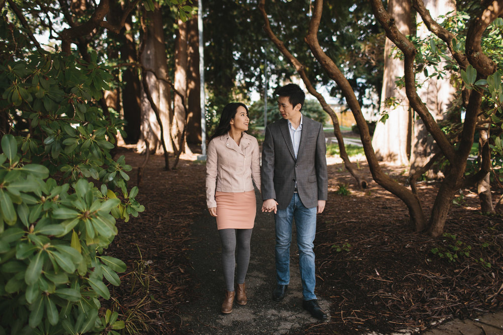 vancouver cherry blossom engagement photography at ubc