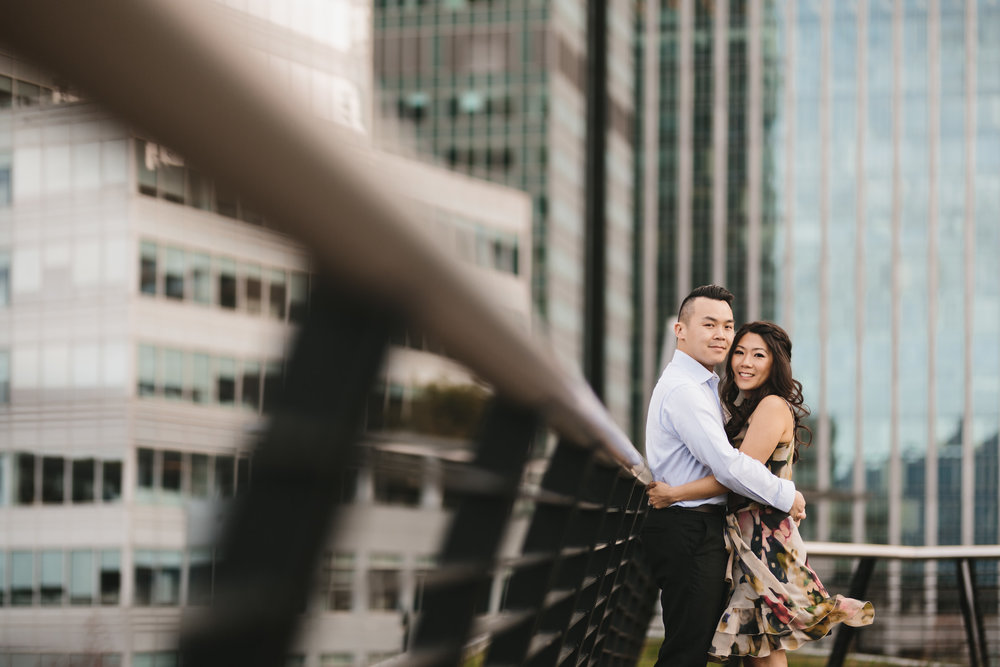 vancouver cherry blossom engagement photography coal harbour sunset