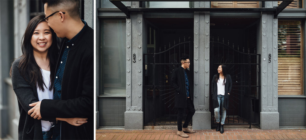 vancouver gastown engagement photographer