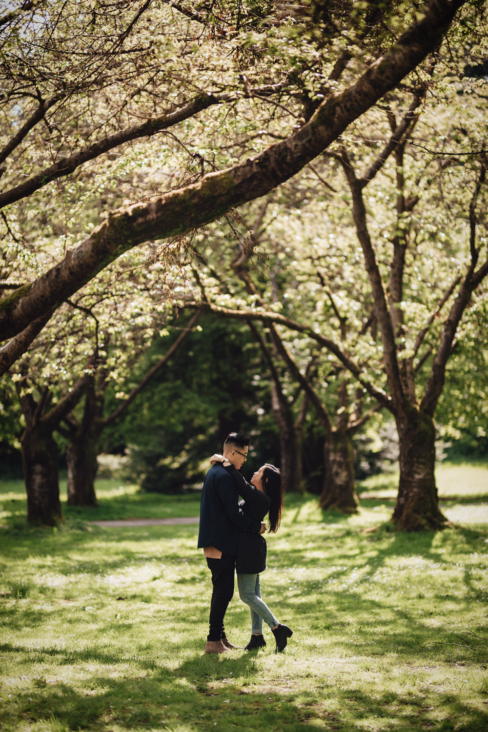 rose garden stanley park engagement photography