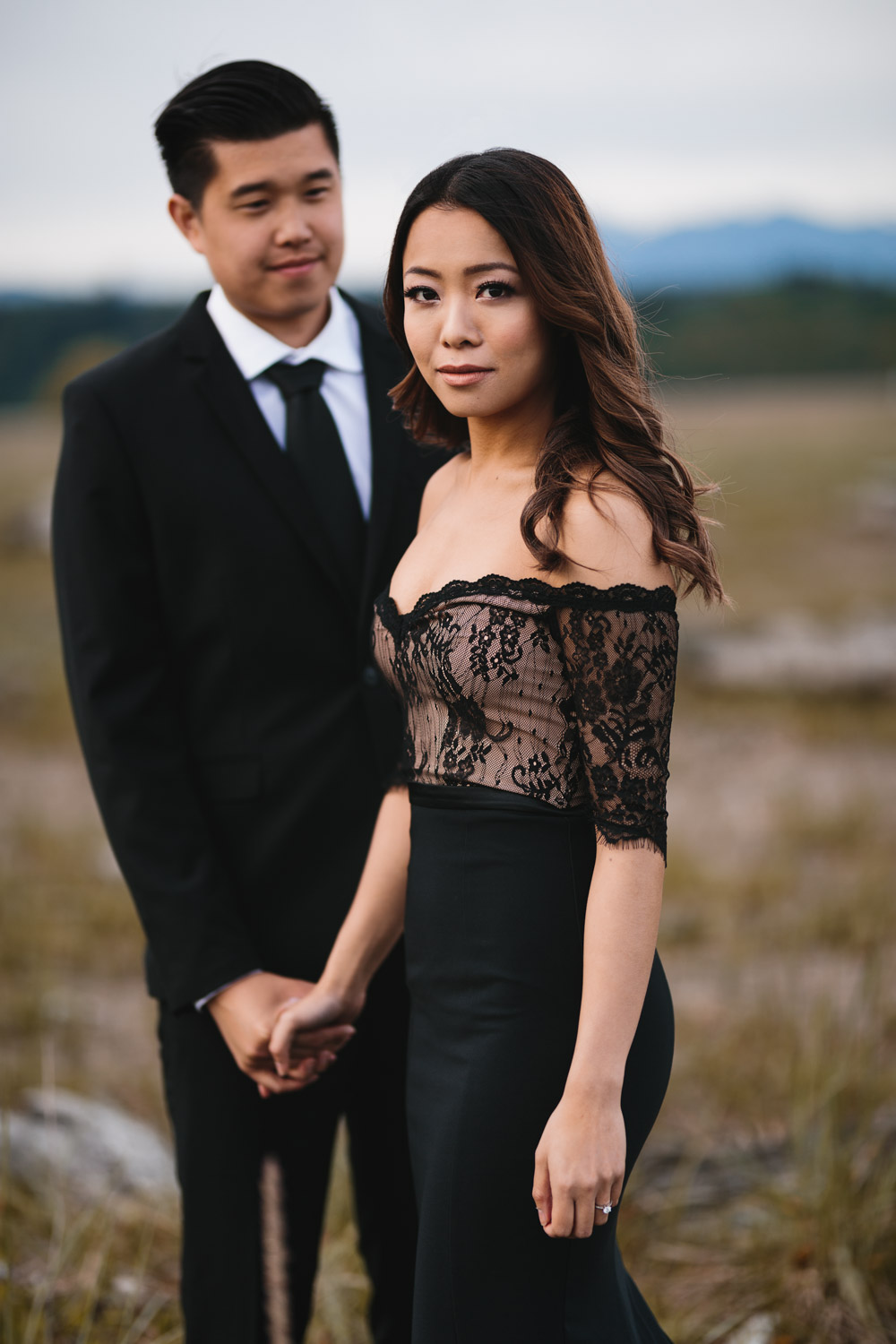 joyce and vince wedding engagement photography in richmond bc at iona beach park