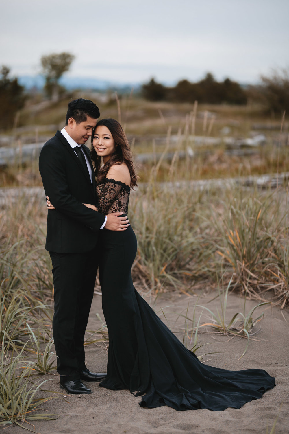 iona beach engagement photography embrace vsco richmond bc