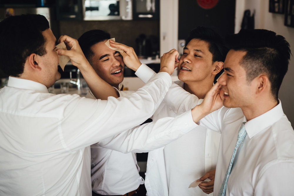 groom and groomsmen candid fun wedding vancouver photography