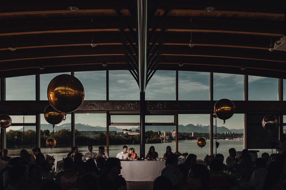 ubc boathouse wedding reception photography richmond bc