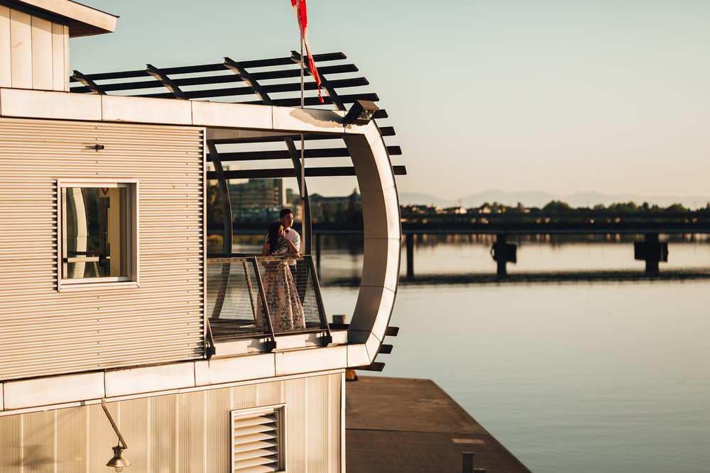 ubc boathouse wedding sunset reception photography bc