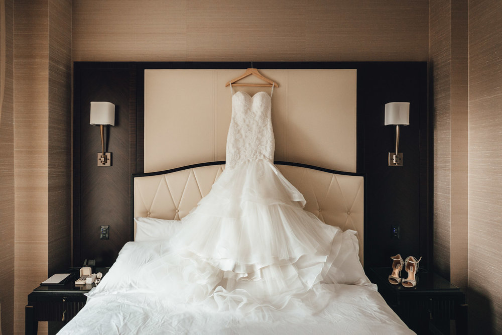 vancouver wedding photographer at rosewood hotel georgia wedding dress vsco