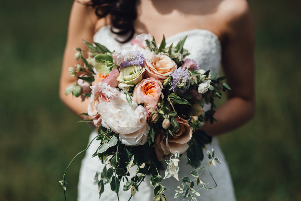 vancouver wedding photography at coal harbour bride groom flowers