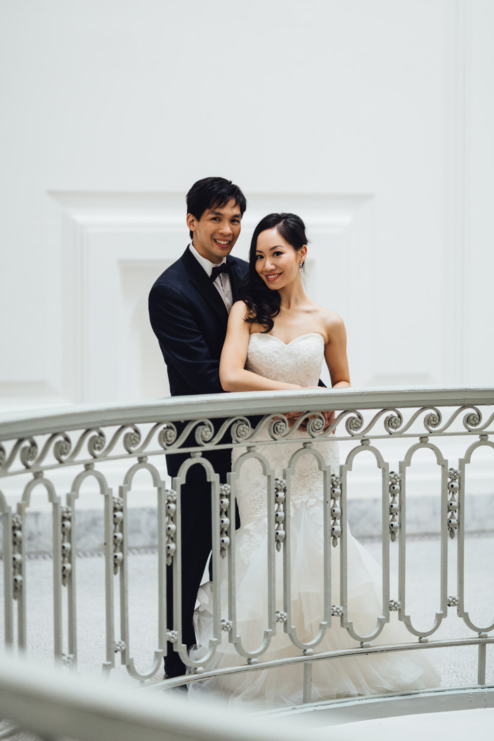 vancouver art gallery wedding photography bride groom portraits