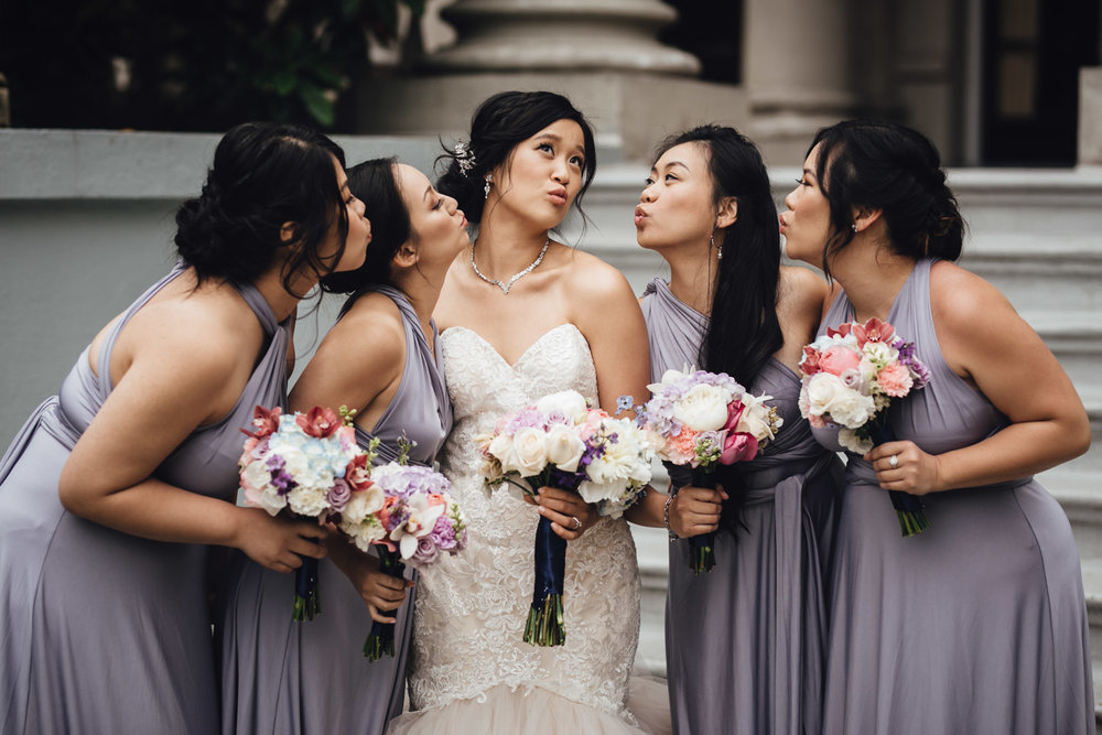 bridal party portrait bridesmaid at university women's club of vancouver