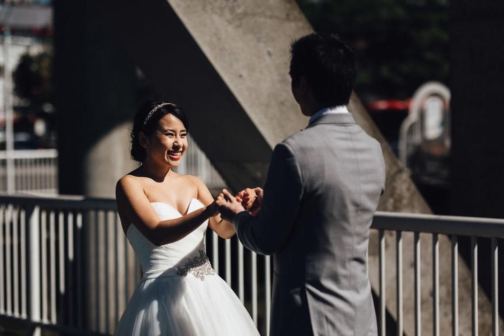 first look in new westminster wedding photography