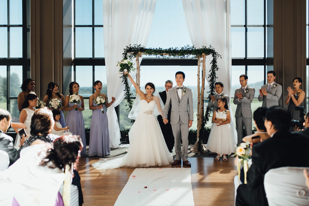 wedding ceremony at swaneset pitt meadows photography