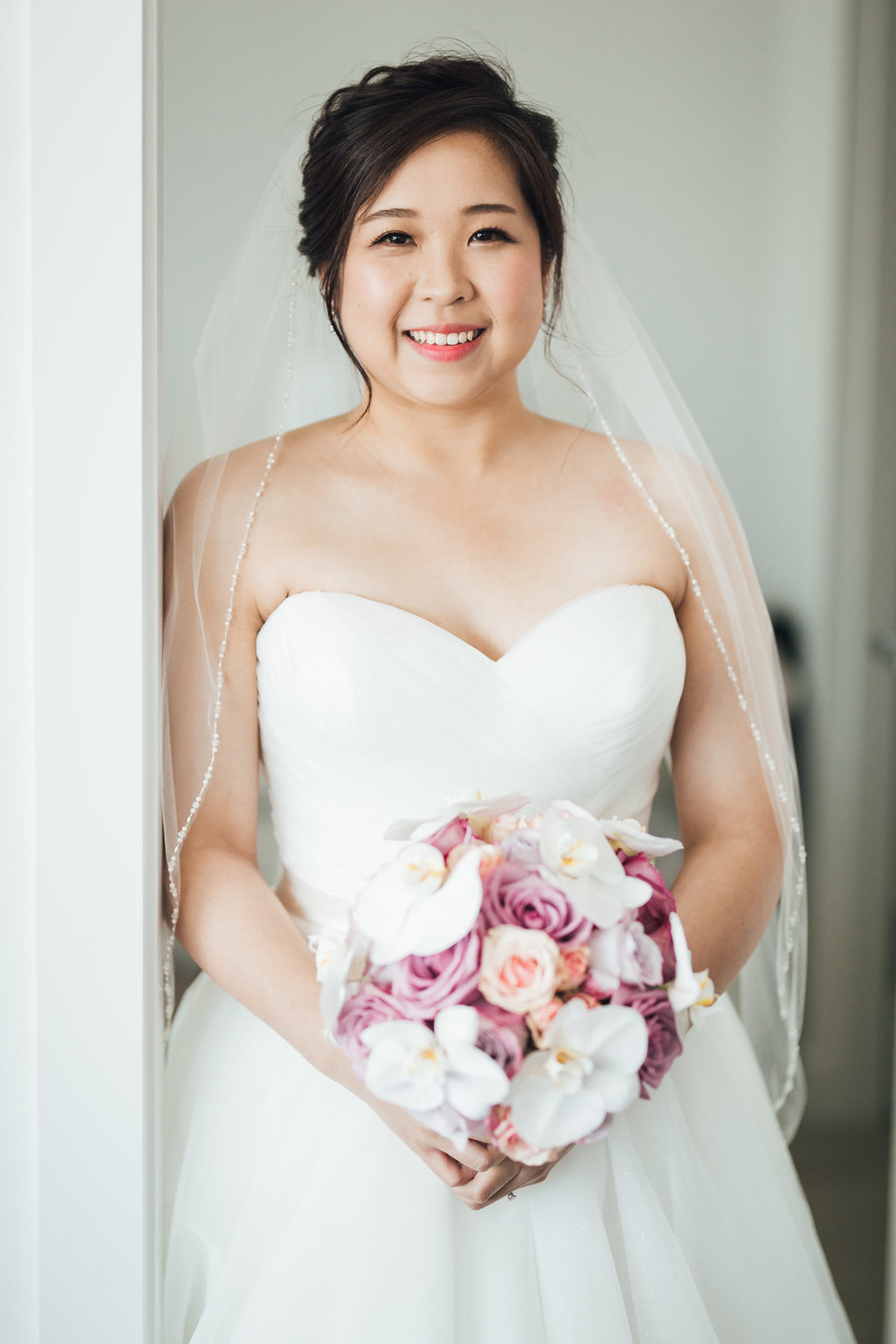 bride portrait burnaby wedding photography