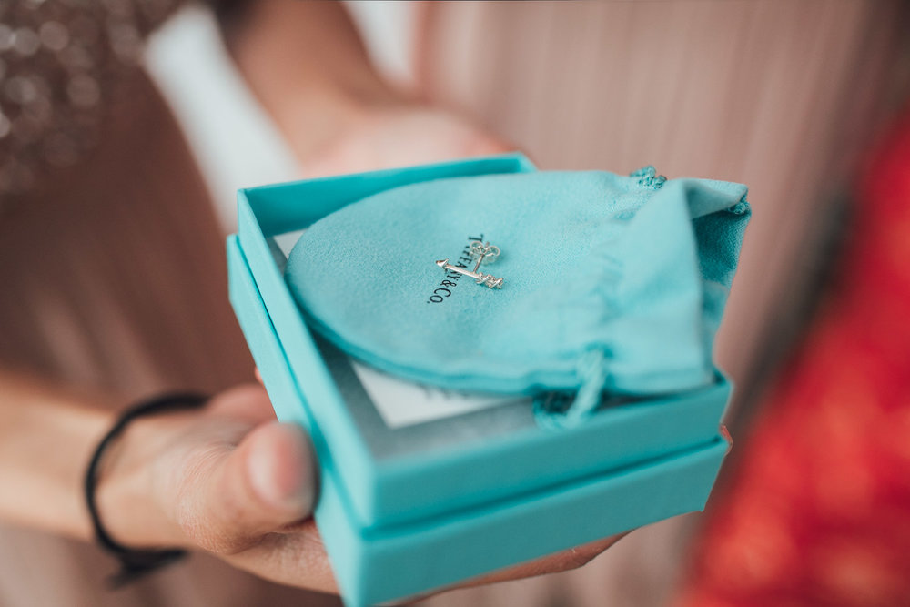 bridesmaids tiffany & co gift from bride vancouver wedding photography