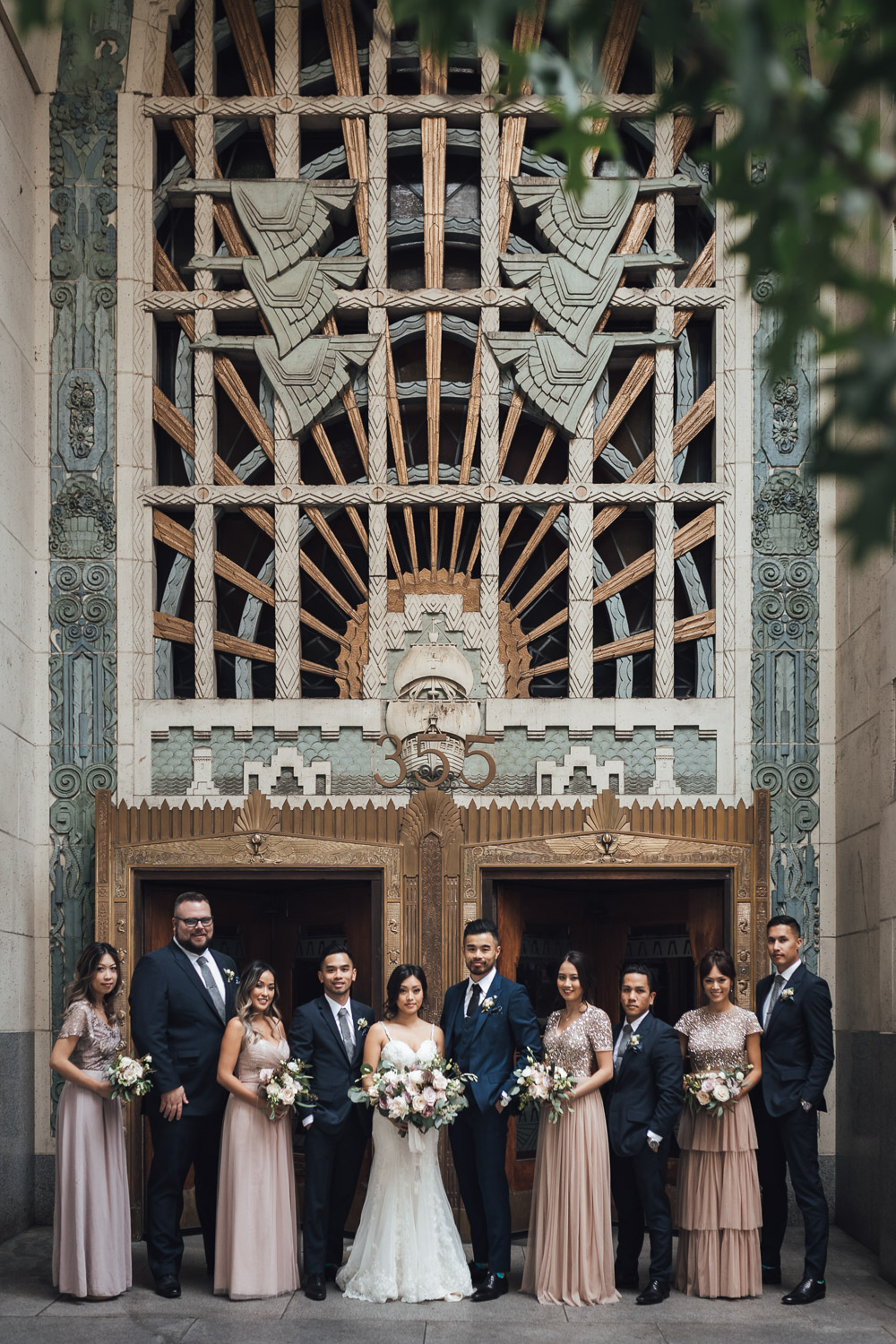 marine building dowtown vancouver wedding photography