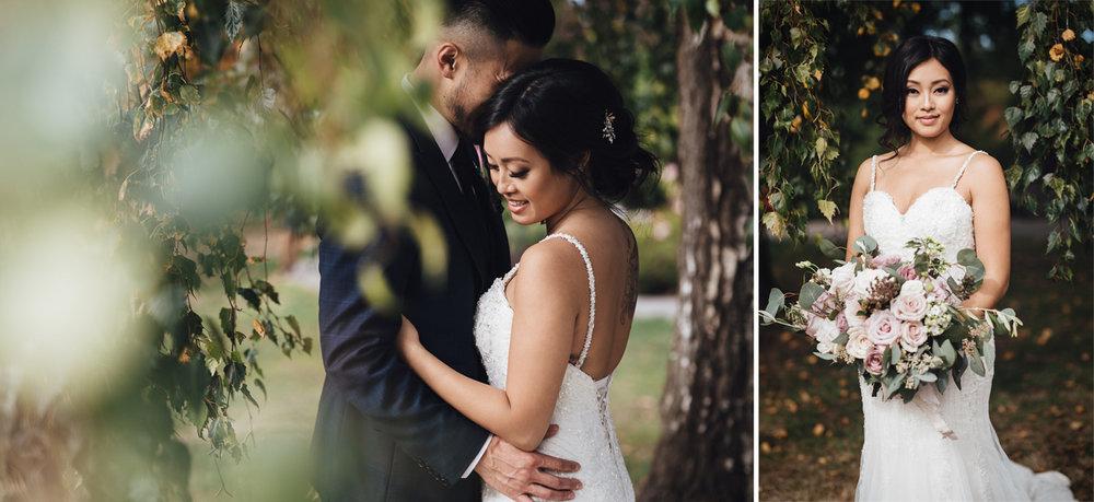 queen elizabeth park vancouver wedding bride portraits photography