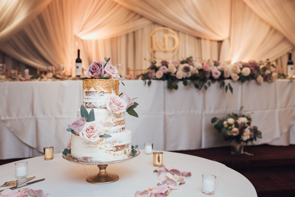 continental seafood restaurant wedding reception photography wedding cake bc