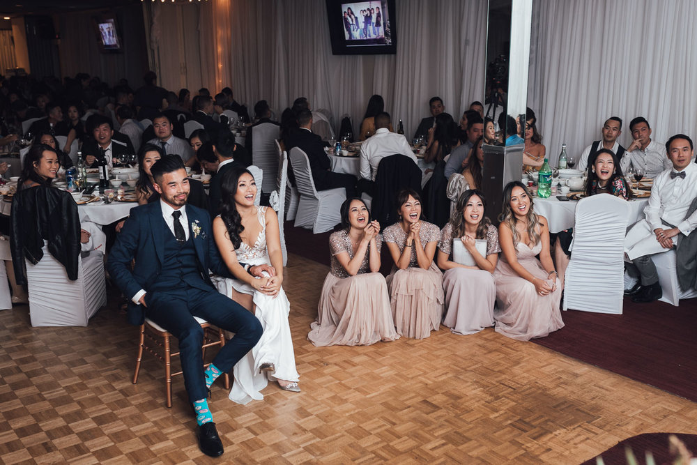 continental seafood restaurant wedding reception photography