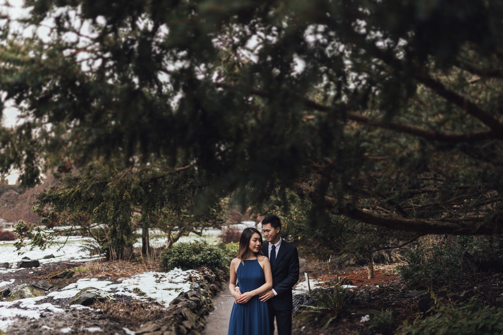 queen elizabeth park winter engagement photography photos vancouver bc