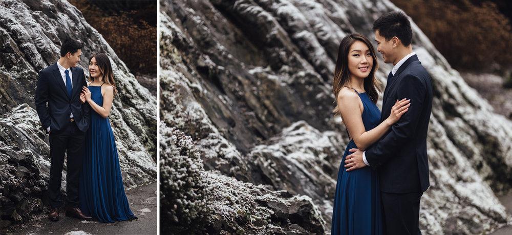 vancouver engagement photography winter snow queen elizabeth park bc