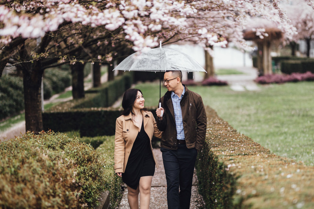 cherry blossom engagement session vancouver engagement photographer