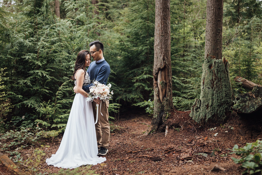 stanley park forest engagement photography vancouver bc